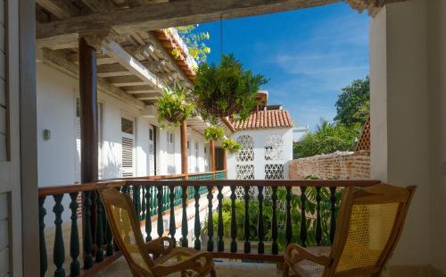 En balkong eller terrass på Casa Pizarro Hotel Boutique