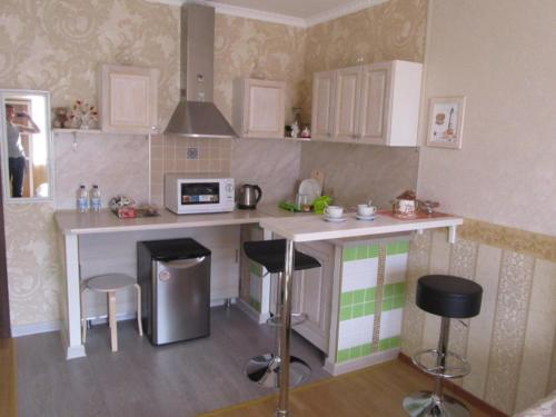 A kitchen or kitchenette at Apartment on Ostrovskogo 58