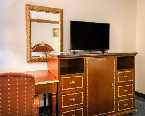 A television and/or entertainment center at FairBridge Inn Express Chesterton