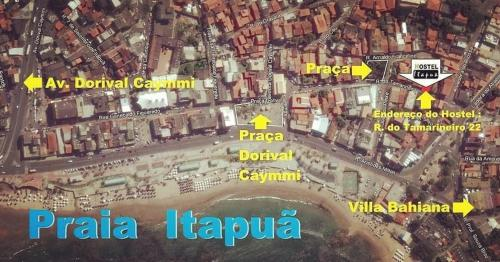 A bird's-eye view of Hostel Itapua