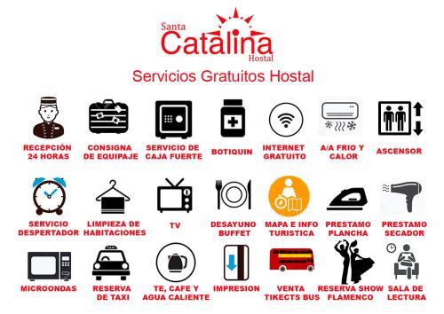 The floor plan of Hostal Santa Catalina
