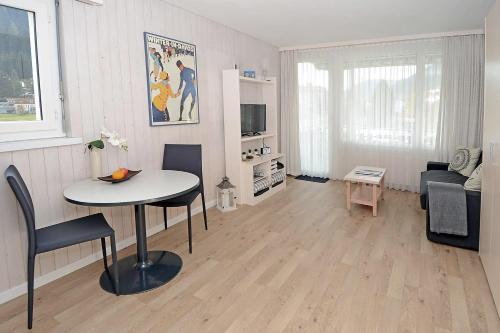 Ein Sitzbereich in der Unterkunft Studio 25 Davos Platz