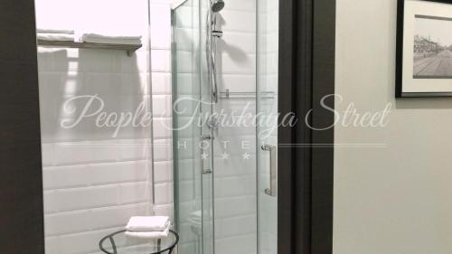 A bathroom at PEOPLE Tverskaya Street Hotel