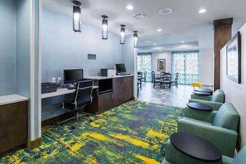 A seating area at Comfort Inn & Suites Oklahoma City near Bricktown
