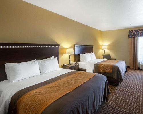 A bed or beds in a room at Comfort Inn & Suites Regional Medical Center