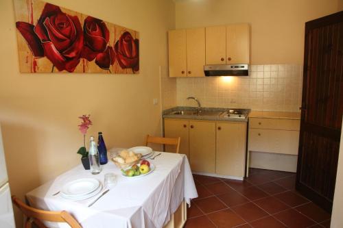 A kitchen or kitchenette at Residence Hotel La Pelosetta