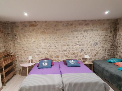 A bed or beds in a room at Home St. Germain
