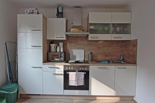 Küche/Küchenzeile in der Unterkunft Benjamins Refugium