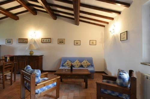 Ein Sitzbereich in der Unterkunft Miralduolo
