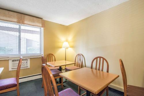 Dining area in the motel
