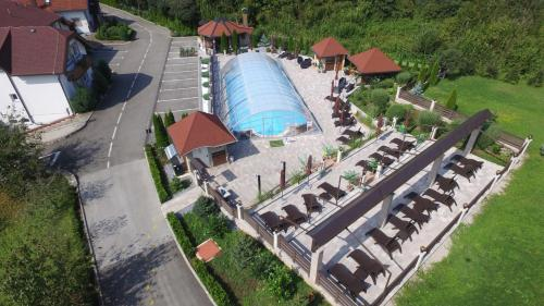 A bird's-eye view of Villa Plitvicka Sedra