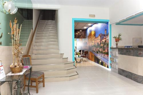 The lobby or reception area at Hotel Playa Sol
