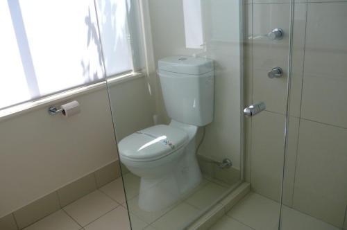 A bathroom at SPLASH