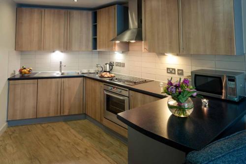 A kitchen or kitchenette at PREMIER SUITES Liverpool
