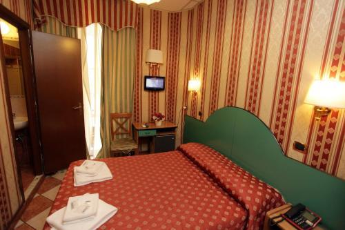 Cama o camas de una habitación en Hotel Hollywood