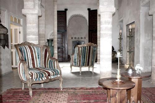 A seating area at Riad Malaïka