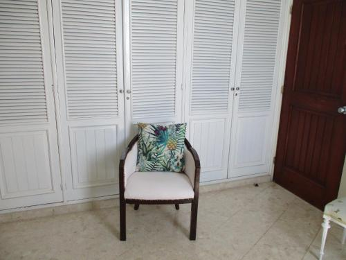 A seating area at Chambres d´hotes La Romana