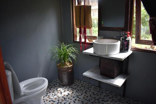 A bathroom at Luckydaisy Buffalo House