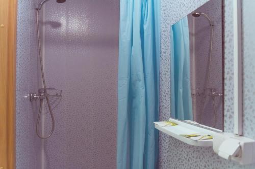 A bathroom at Agios Hotel on Kurskaya