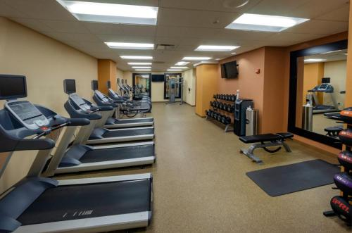 The fitness center and/or fitness facilities at The Hilton Garden Inn Buffalo-Downtown