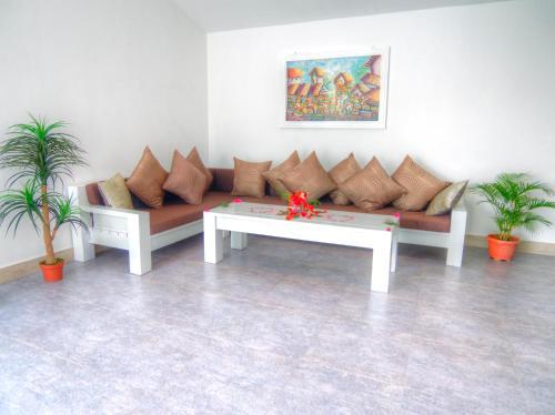 A seating area at KyGunAya Villa