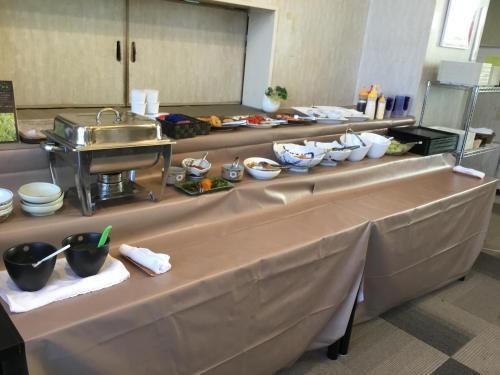 A kitchen or kitchenette at Hotel Tsubame Hills