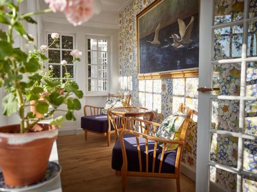En restaurant eller et andet spisested på Hotel Hornbækhus
