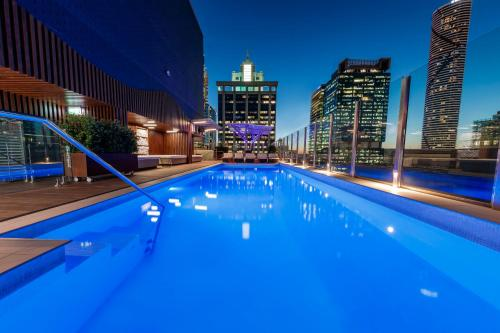 The swimming pool at or near Pullman Brisbane King George Square