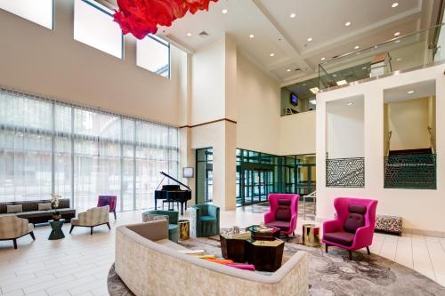 The lobby or reception area at Homewood Suites by Hilton Salt Lake City Downtown