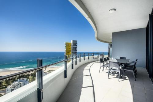 A balcony or terrace at The Wave Resort