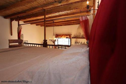 Ένα ή περισσότερα κρεβάτια σε δωμάτιο στο Traditional studio