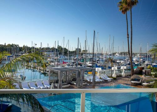 The swimming pool at or near Marina del Rey Hotel