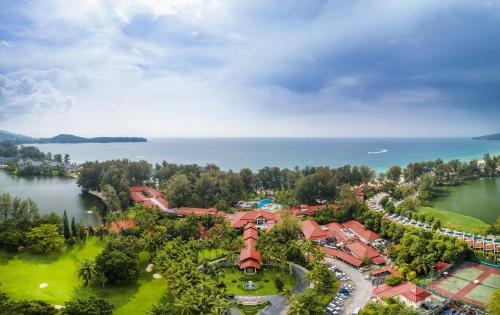 Vaade majutusasutusele Dusit Thani Laguna Phuket linnulennult