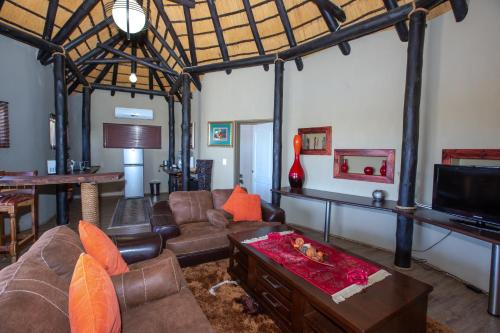 The lobby or reception area at Lapa Lange Game Lodge