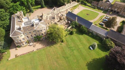 A bird's-eye view of Hooton Pagnell Hall