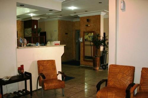 The lobby or reception area at Hotel Capriccio São Caetano