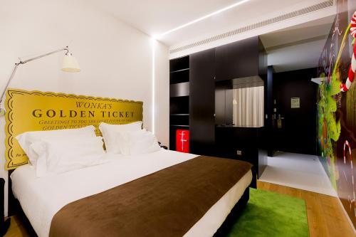 Cama o camas de una habitación en Hotel Fabrica do Chocolate