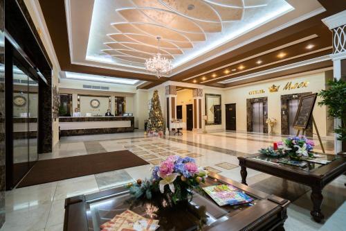 Лобби или стойка регистрации в Бизнес-Отель «Маск»