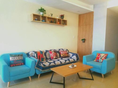 A seating area at Mina house