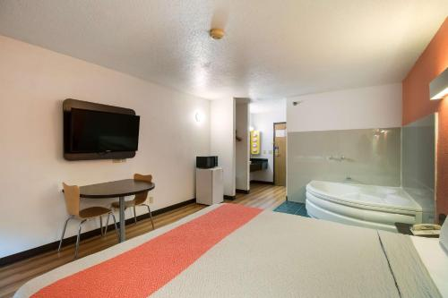 A television and/or entertainment center at Motel 6-Davenport, IA