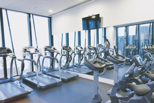 The fitness center and/or fitness facilities at Southern Cross S Collection