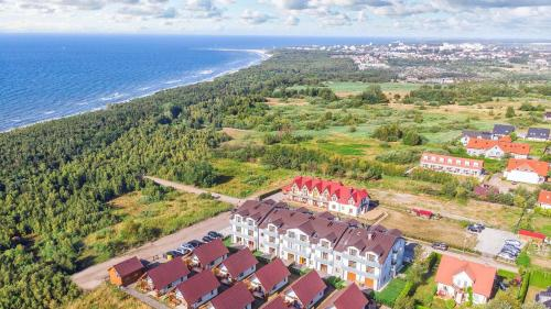 Widok z lotu ptaka na obiekt Piasek i Woda Apartamenty Butikowe