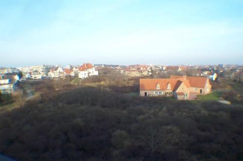 Blick auf Residentie Koksijde promenade aus der Vogelperspektive