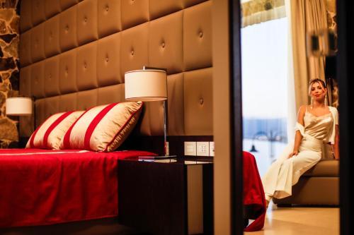 Ein Bett oder Betten in einem Zimmer der Unterkunft Ngonia Bay