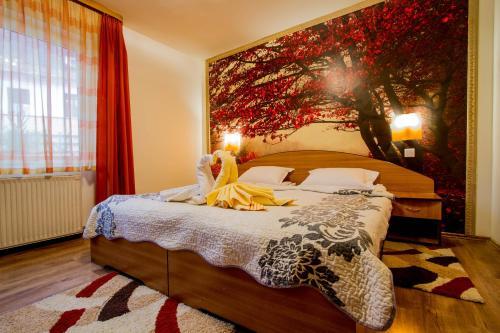 Cama o camas de una habitación en Pension Casa Timar