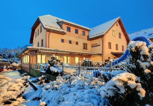 Penzion Krumlov - B&B Hotel during the winter
