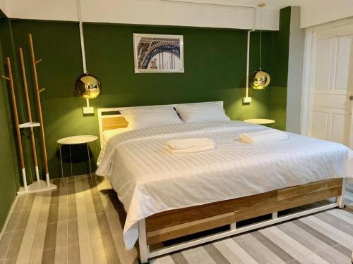 Cama o camas de una habitación en You Empire Hostel & Bar