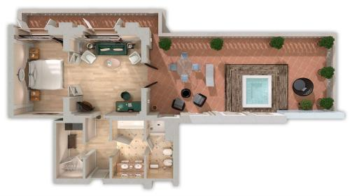 The floor plan of The Westin Excelsior, Florence