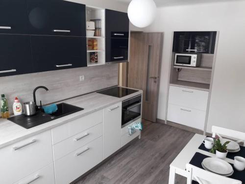 Kuchyňa alebo kuchynka v ubytovaní Apartman Dominik