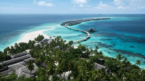 A bird's-eye view of JOALI, Maldives